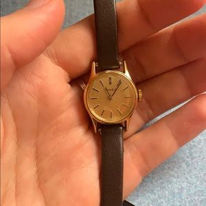 Vintage Leather Timex Watch